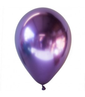 Latexluftballon Chrom-Dunkellila