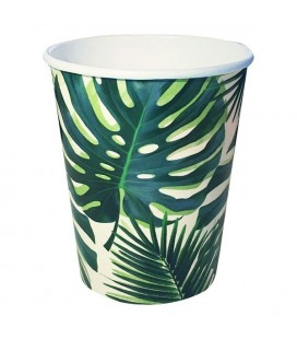 Tropical Palm Leaves Large Plates