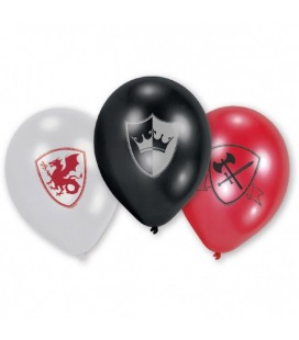 6 Ballons Chevalier & Dragon