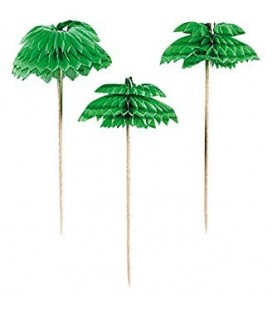 12 Honeycomb Palm Leaf Partypiekser