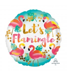 Let's Flamingle Folienluftballon