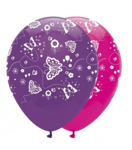 6 Butterfly Balloons