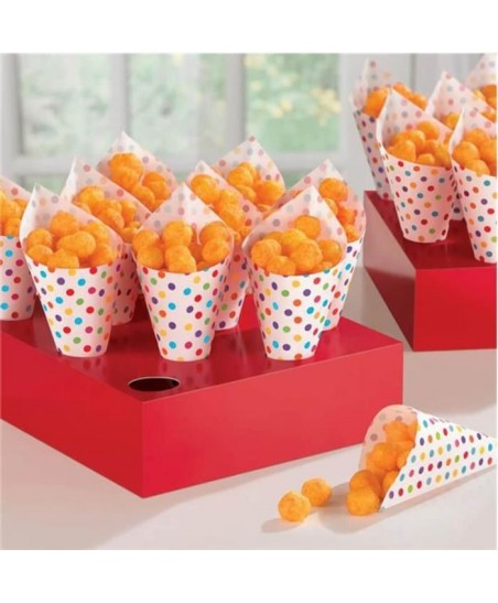 40 Snack Cones with Trays