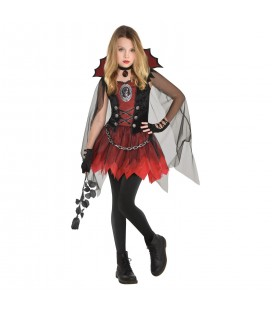 Dark Vamp Girl Kinderverkleidung