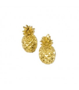 2 Gold Pineapple Place Card Holder