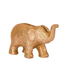 4 Gold Glitter Elephant Place Card Holder
