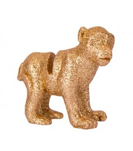 4 Gold Glitter Monkey Place Card Holder