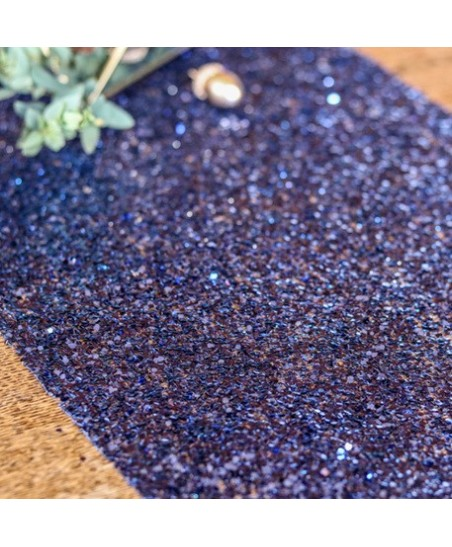 Midnight Blue Glitter Table Runner