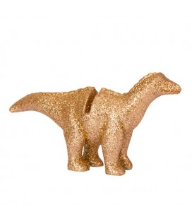 4 Gold Glitter Dinosaurs Place Card Holder