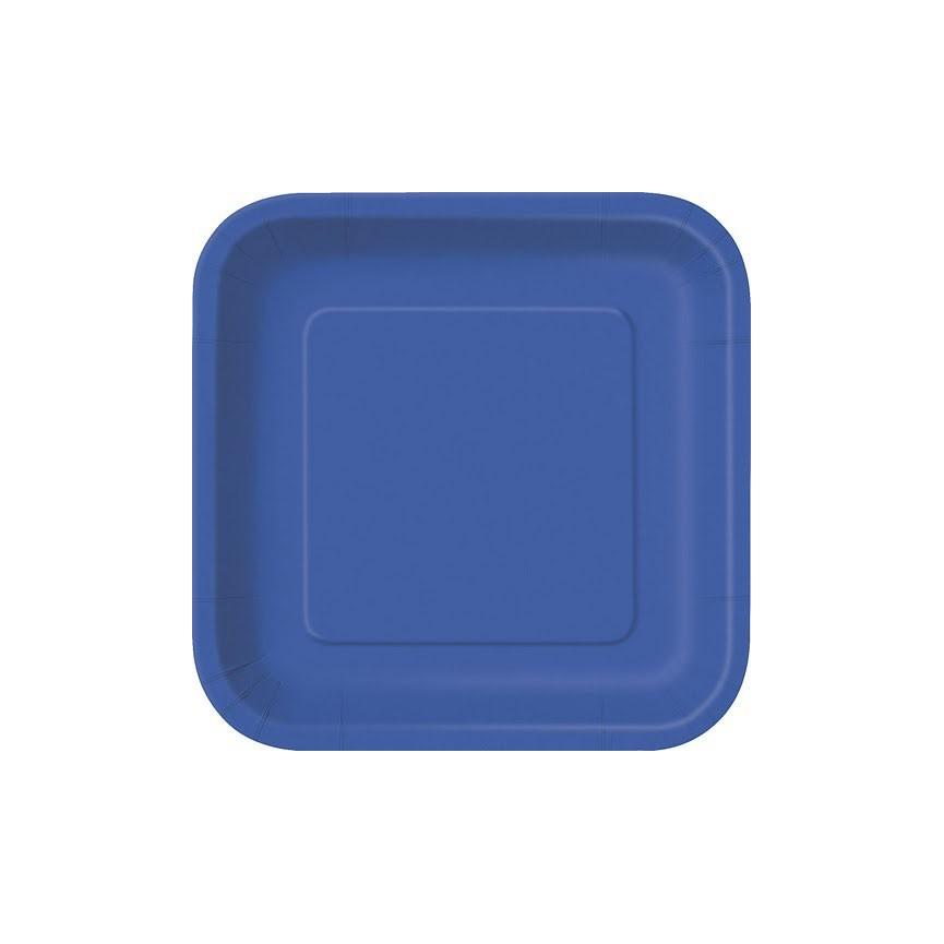 14 Royal Blue Dinner Plates