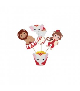 Vintage Circus Cake Toppers