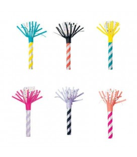 8 Striped Blowouts with Tassels