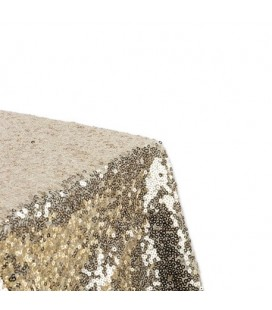 Gold Square Sequins Table Cover