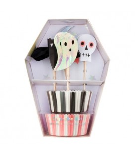 Kit for 24 Halloween Cupcakes