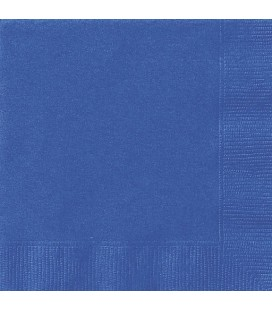 20 Grandes Serviettes Bleu Royal