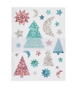 Glittery Christmas Icons Stickers