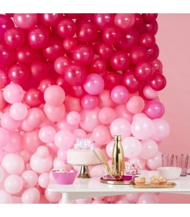 Luftballon-Wanddekorations-Kit Rosa schattiert