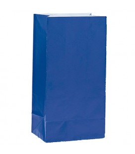 12 Royal Blue Paper Party Bags