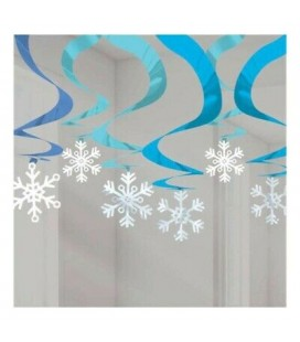 15 Winter Wonderland Swirl Decorations