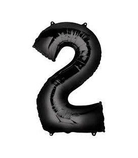 Black Mylar Balloon Number 4 Mid-Size