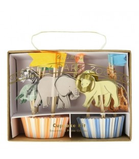 Kit de 24 Cupcakes Animaux Safari