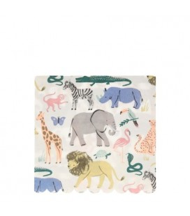 Large Safari Animals Napkins