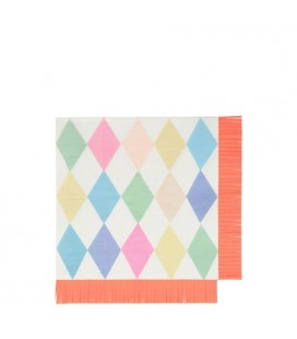 Large Circus Napkins with Fringes