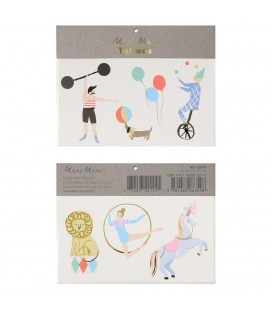 Circus Temporary Tattoos