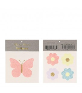 Floral Butterfly Temporary Tattoos