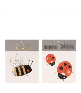 Bee & Ladybird Temporary Tattoos