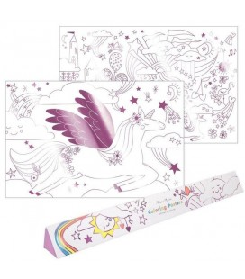 2 Unicorn Coloring Poster