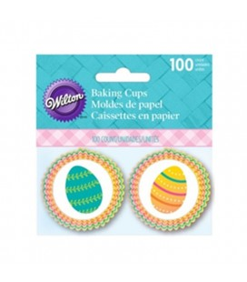 100 Easter Eggs Mini Cupcake Liners