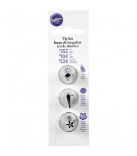 Piping Tips Set - 4 pieces 104, 352, 224
