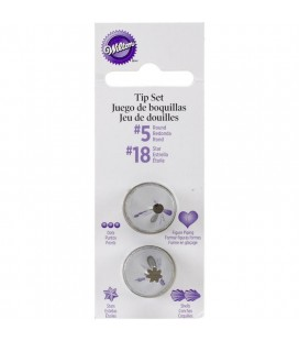 Piping Tips Set - 4 pieces 5, 18