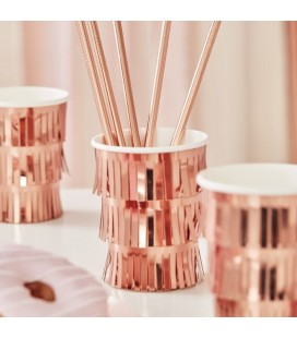 Rose Gold Fringe Cups