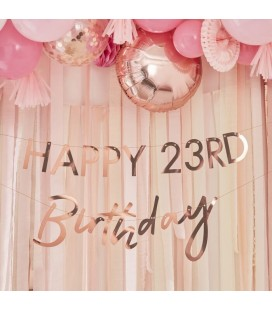 Customisable Rose Gold Happy Birthday Garland