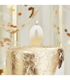 God Ombre Number 0 Candle