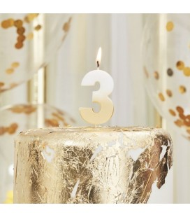 God Ombre Number 3 Candle
