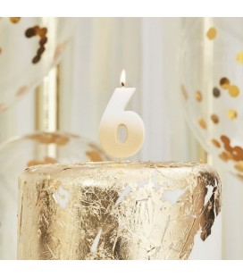 God Ombre Number 6 Candle