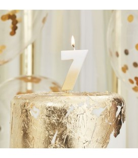 God Ombre Number 7 Candle