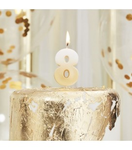 God Ombre Number 8 Candle