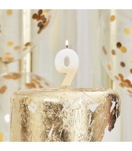 God Ombre Number 9 Candle