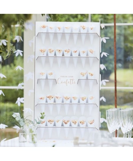 Wedding Confetti Cone Holder Stand and Cones