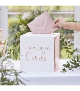 "Rose Gold Wedding Post Box ""Cards"""