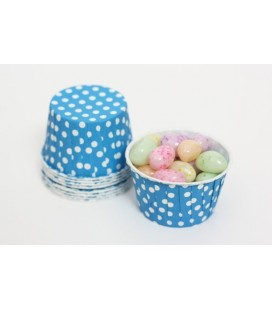 25 Blue Polka Dots Candy Cups