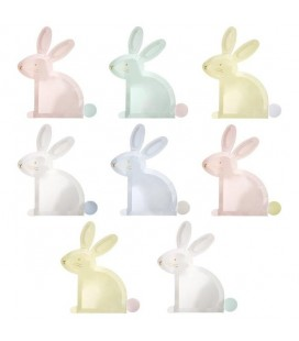 Pastel Bunny Easter Plates