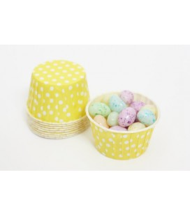 25 Yellow Polka Dots Candy Cups
