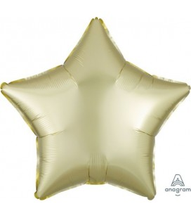 Pastel Yellow Star Satin Luxe Foil Balloon