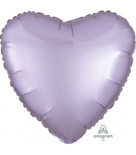 Pastel Lilac Heart Satin Luxe Foil Balloon