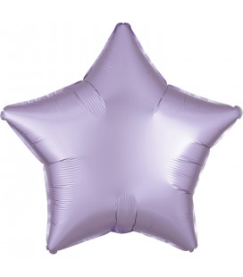 Pastel Lilac Star Satin Luxe Foil Balloon